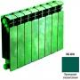 Биметаллический радиатор Rifar Base 500 - 4 секции опалово зеленый