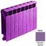 Биметаллический радиатор Rifar Base 500 - 4 секции фиолетовый